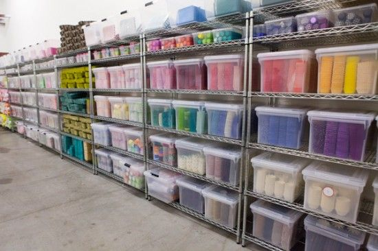 the Bake It Pretty warehouse...I could just stare at the perfect organization and rainbow of colors all day  :)