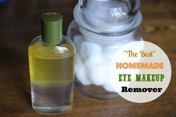 This Homemade Eye Makeup Remover tested BEST in my challenge of several DIY versions. Easy, non-toxic, super cheap and removes water-proof m...