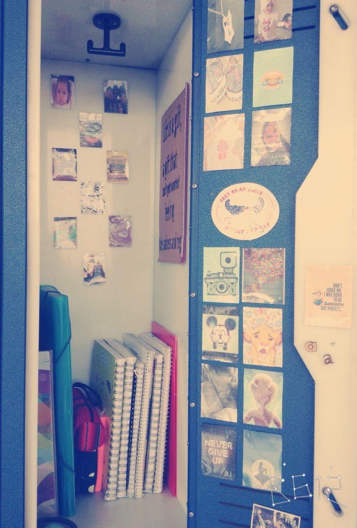 Tumblr middle school locker decoration.