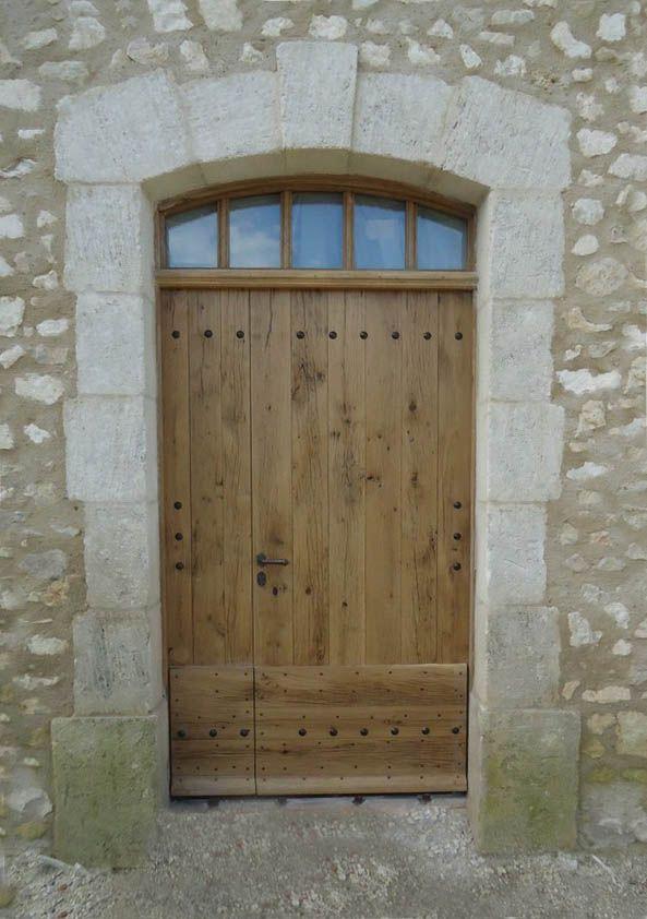 Porte Du0027entrée De Mas En Vieux Chêne. Entry Door Made Of Reclaim Oak · Porte  ExterieurPorte Fenetre BoisPortes ...