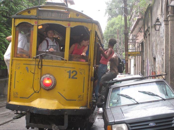 """Santa Teresa, Brasil.  Yo he usado el """"Bonde"""" para comprar pan, llevar mi niña a escuela y cuantas cosas más"""