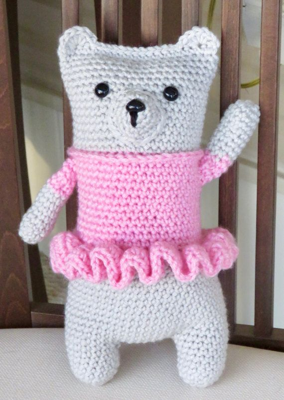 READY TO SHIP  Crochet Snuggle Teddy Bear with by TheBabyCrowTwo