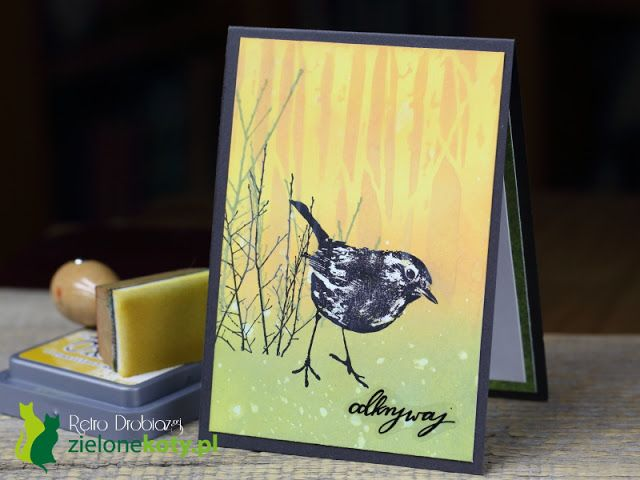 scrapbooking card, stamps, Distress Oxide Inks, Darkroom Door sparrow