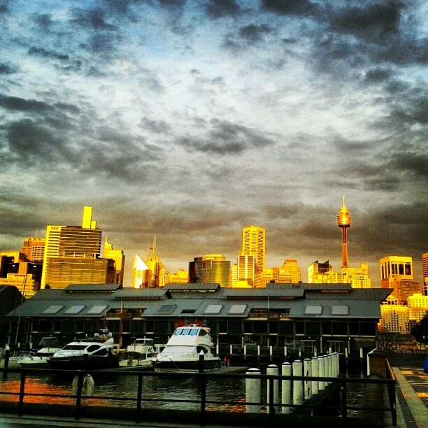 What a dramatic shot of Pyrmont.