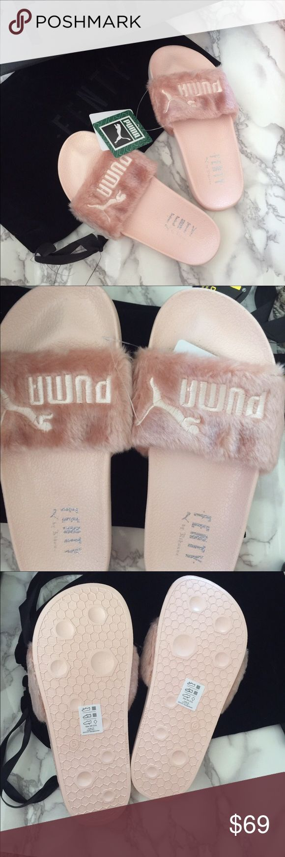 PINK PUMA RIHANNA FENTY SLIDES Comes with DUSTBAG n BOX Puma Shoes Slippers
