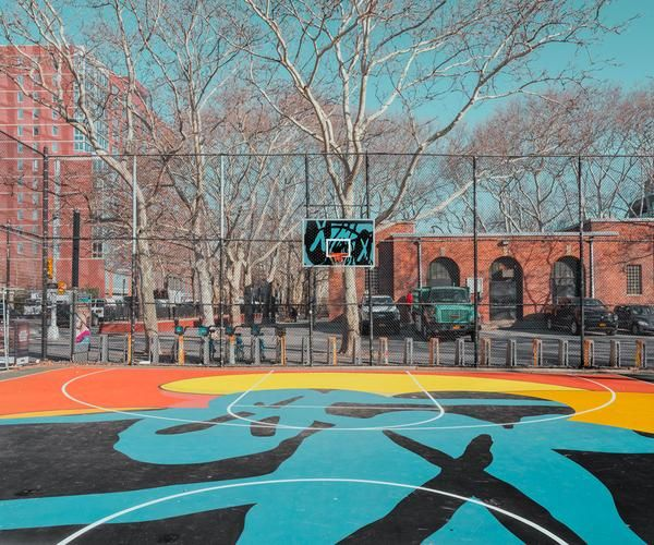 New York Basketball Court With Images New York Basketball Street Basketball Basketball