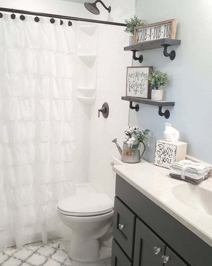"""1,498 Likes, 108 Comments - Chelsea (@blessed_ranch) on Instagram: """"Hey! Hope you all had a great day! Sharing my DIY bathroom shelves for some fun Monday tags! We…"""""""