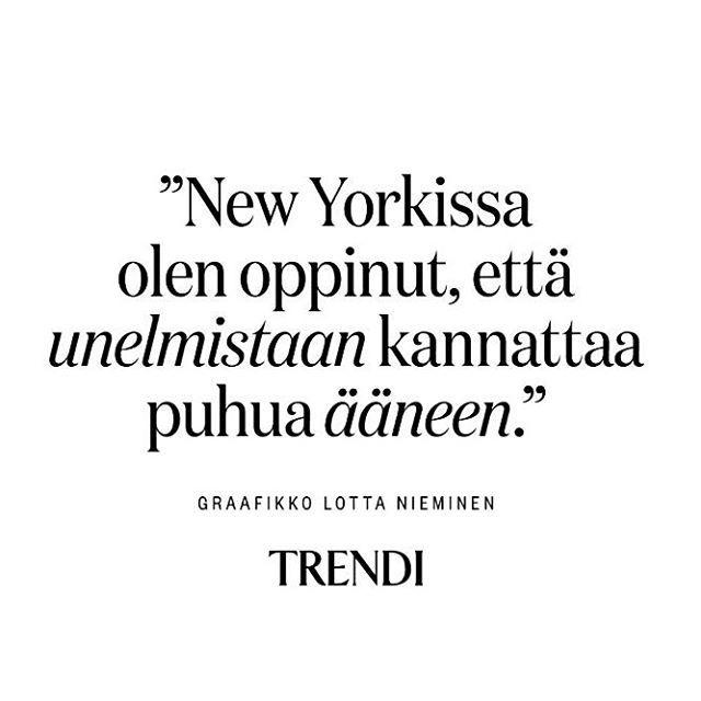 Uskalla sanoa ääneen se mistä unelmoit 🌟 .  .  .  #unelma #unelmoi #newyork #trendi #trendilehti #boxi #yllätys #box #subscriptionbox  #subscriptionboxes #newyork #uskalla 📸: @trendimag