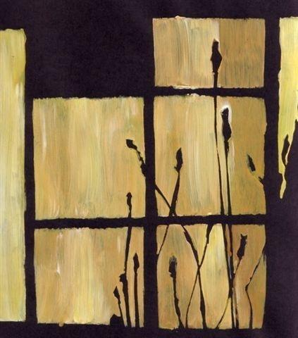Grasses at Window by Mel Jones