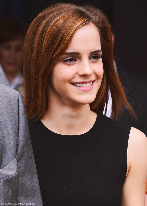 Emma has the most gorgeous smile ever