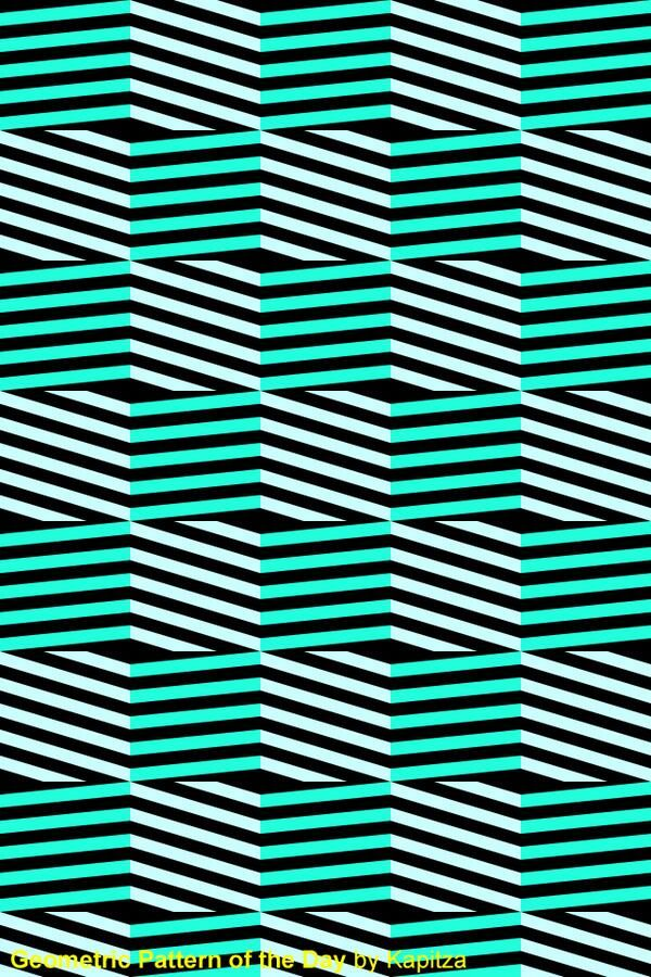 Abstract geometric lines green mint aqua