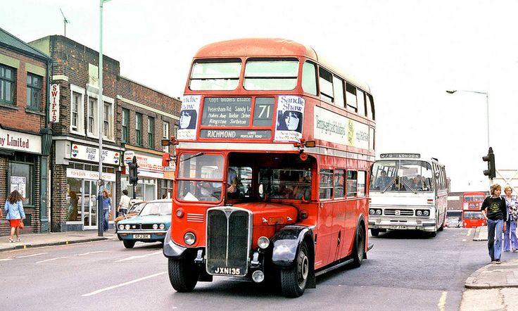 London Transport: RT1107 (JXN135) from Kingston Garage in Wood Street, Kingston on Route 71