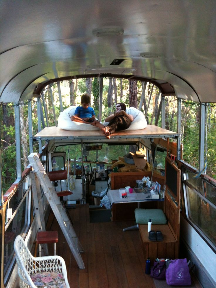 My Bus With Roof Raised And Mezzanine Tarps Off For Music