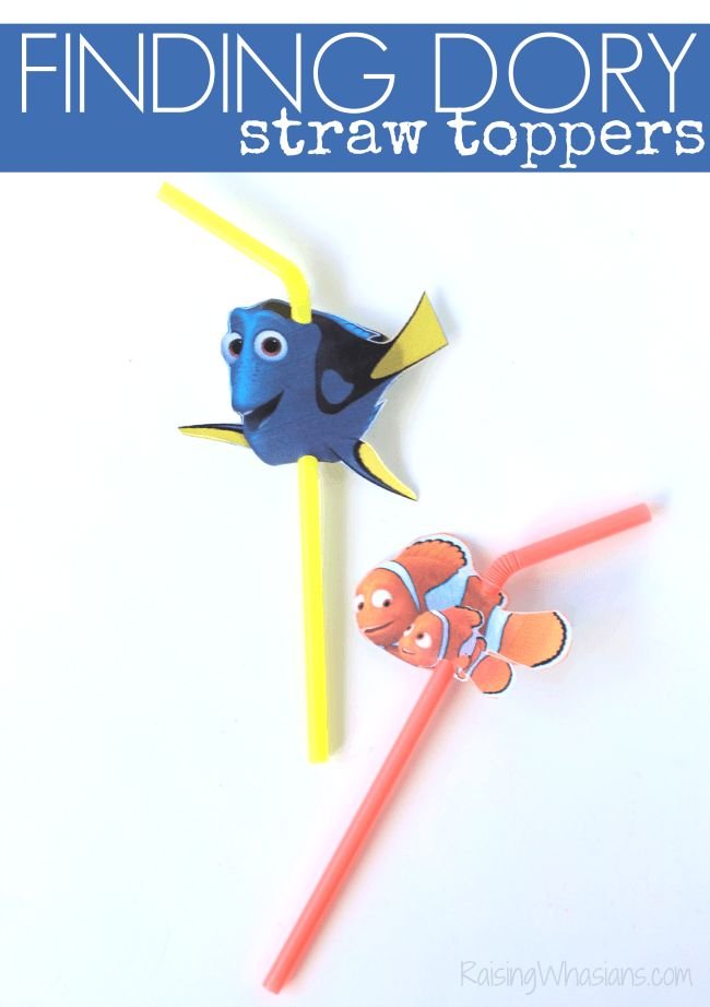 FREE Finding Dory Straw Topper Printable + Kids Activities, Coloring Pages & More