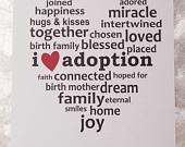 I Heart Adoption Cards (Set of 4), I Heart Adoption Card, Adoption Sayings, Adoption Gifts, Adoption Art, Adoption Gift Ideas. $9.50, via Etsy.