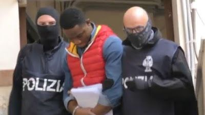 Photo: Over 20 members of Nigerian mafia gang Black Axe arrested in latest police raids across Italy