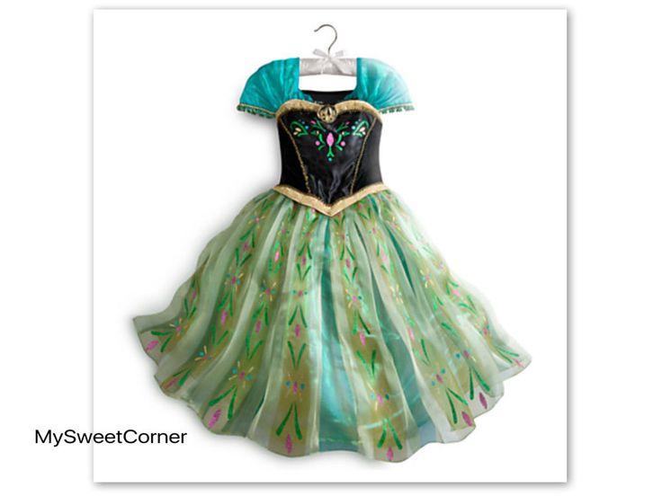 Anna Eiskönigin Kostüm Damen Kleid Eiskönigin Elsa Frozen Erwachsene S,M,L,