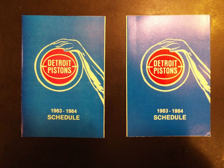 1983-1984 detroit pistons schedule set of 2 from $4.88