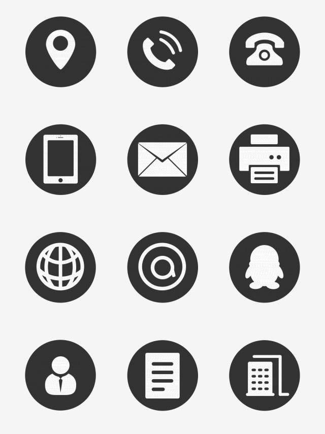 Imagem Do Icone Icone Icone Do Telefone Icone Qq Imagem Png E Psd Para Download Gratuito Business Card Icons Business Icon Icon Design