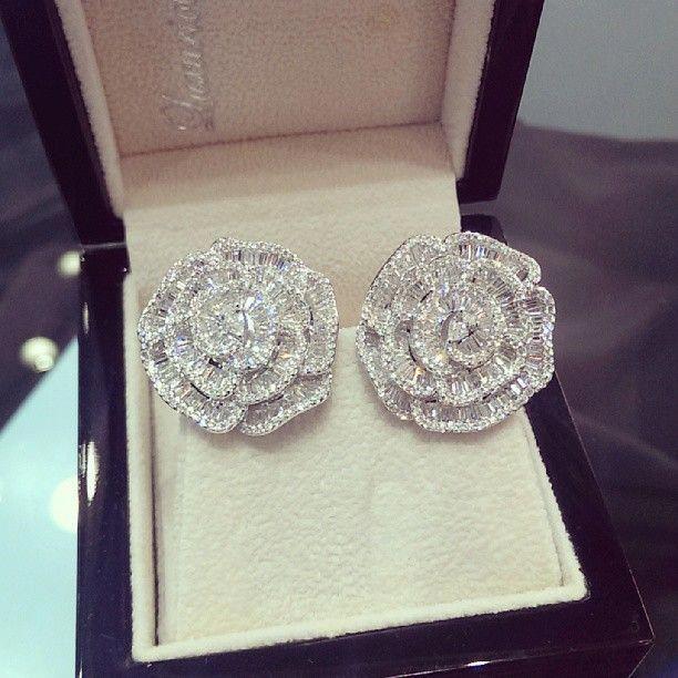 Flower Earrings #live #love #like #diamond #earrin…