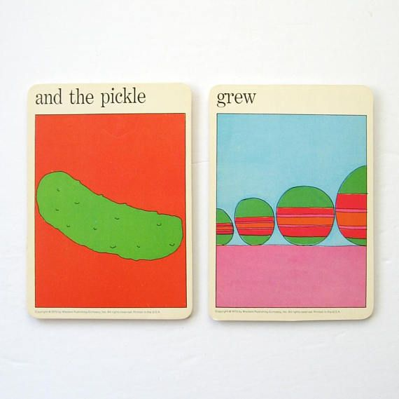 the Pickle Grew Vintage MOMA Art Cards Fun Quote Prints