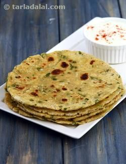 Cabbage and Spinach Rotis recipe