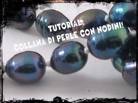Tutorial gioielli fai da te - Come fare nodino ad orefice - Collane fai da te con perline - YouTube