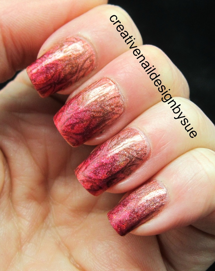 Creative Nail Design by Sue: Fall Into Autumn Challenge-Gradient