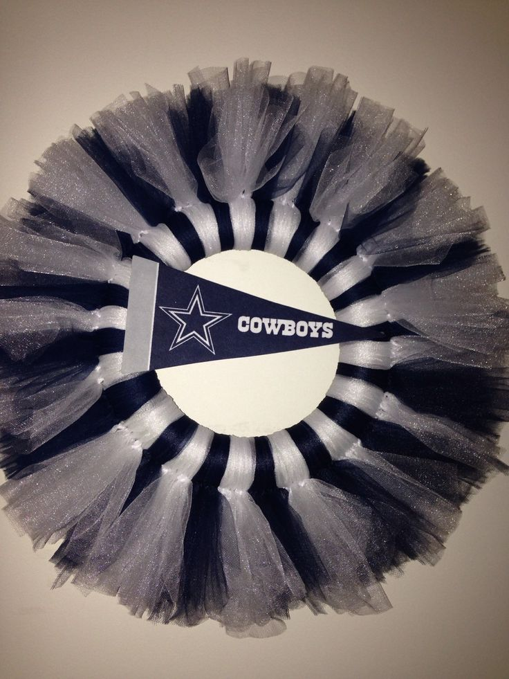 A personal favorite from my Etsy shop https://www.etsy.com/listing/249250693/12-dallas-cowboys-tulle-wreath