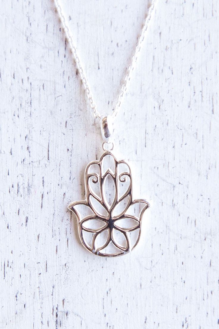 Floral Hand Of Fatima Necklace