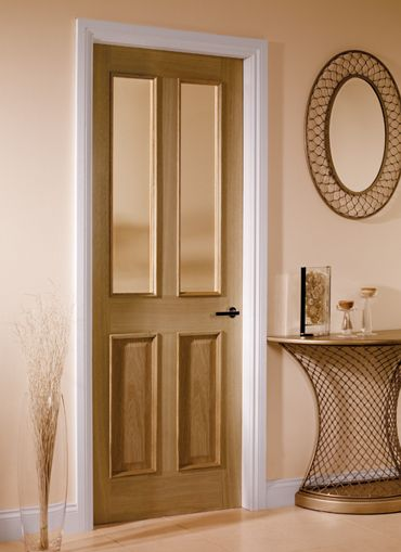 4 Panel Oak Glazed Internal Doors   Oak Doors   Magnet Trade