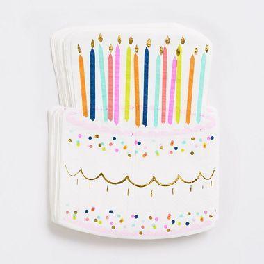 Birthday Cake Napkins – Greetings Cards