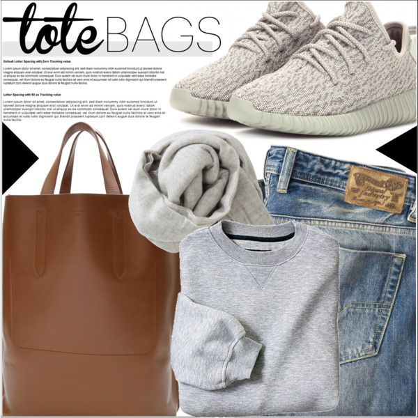 Tote Bags by martso on Polyvore featuring moda, Diesel, adidas Originals, Louis Vuitton and Brunello Cucinelli