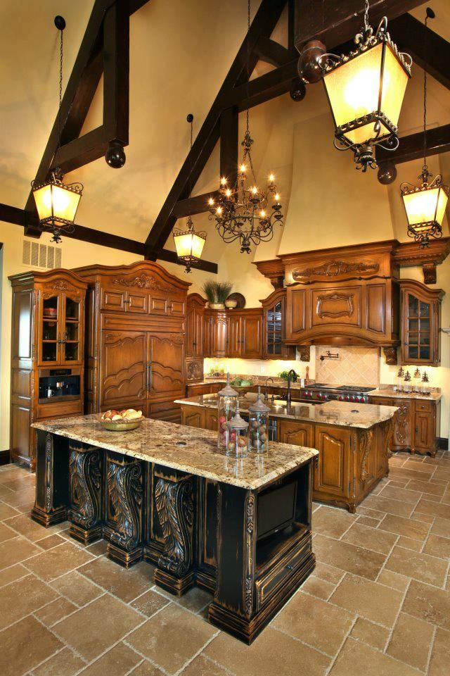 Chateau Kitchen Designs Old World Mediterranean