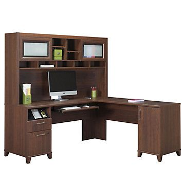 Achieve L Desk With Right Return And Hutch
