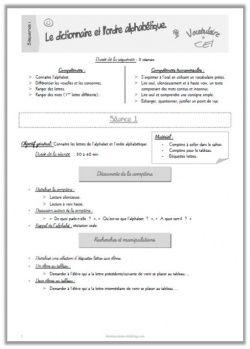 Alphabet et ordre alphabétique CE1 - prépa et exercices