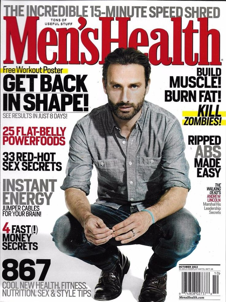 Mens Health magazine Andrew Lincoln Aaron Rodgers Power foods Energy Workouts