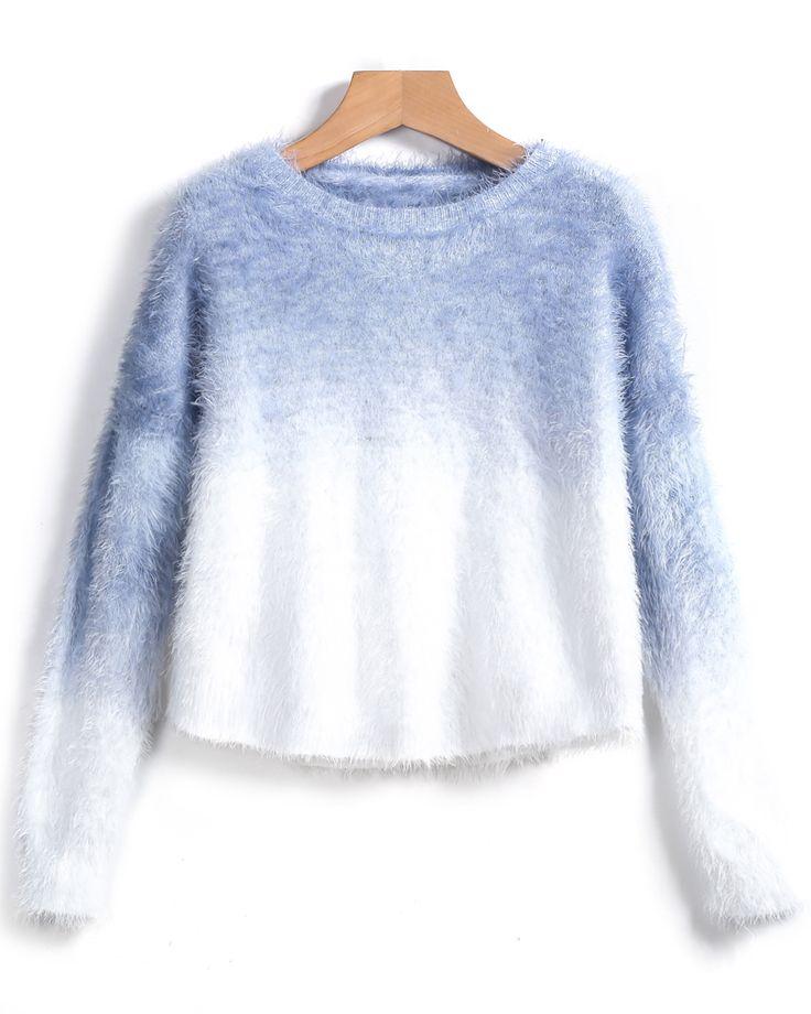 Jersey Crop manga larga-azul 19.83