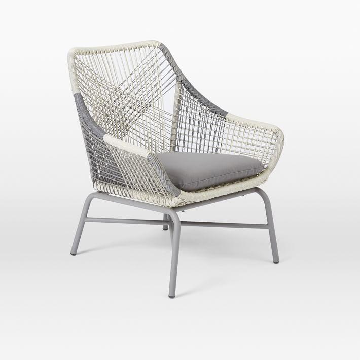 Huron Small Lounge Chair + Cushion U2013 Gray
