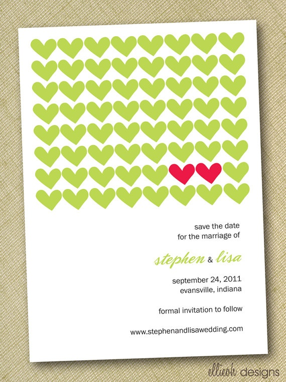 hearts save the date.: Heart Patterns, Color, Dates, Wedding Ideas, Two Hearts, Invites Cards, Hearts Invite