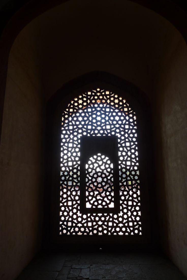 Stonework in a window, Humayan's tomb, Delhi.