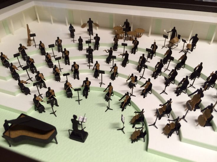 TERADA MOKEI / A 1:100 scale ARCHITECTURAL MODEL ACCESSORIES SERIES - No.9 ORCHESTRA / Paper Model / Paper Craft / Paper Cut /