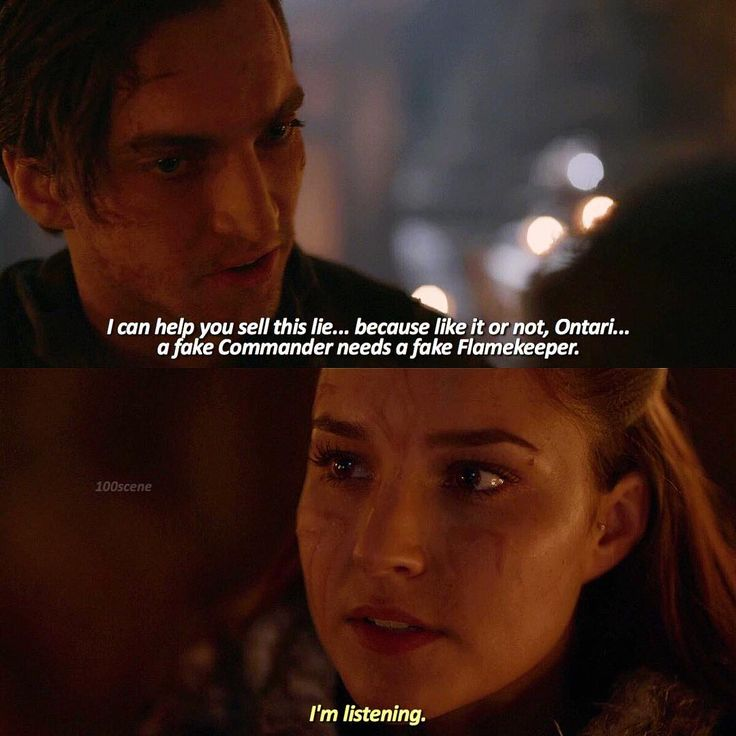 "#The100 3x10 ""Fallen"" - Murphy and Ontari"