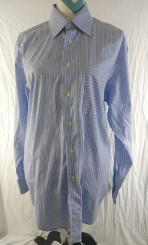 48bd2734535 Ted-Baker-London-Size-16-Large-Blue-White-Striped-LONG-SLEEVE-SHIRT ...