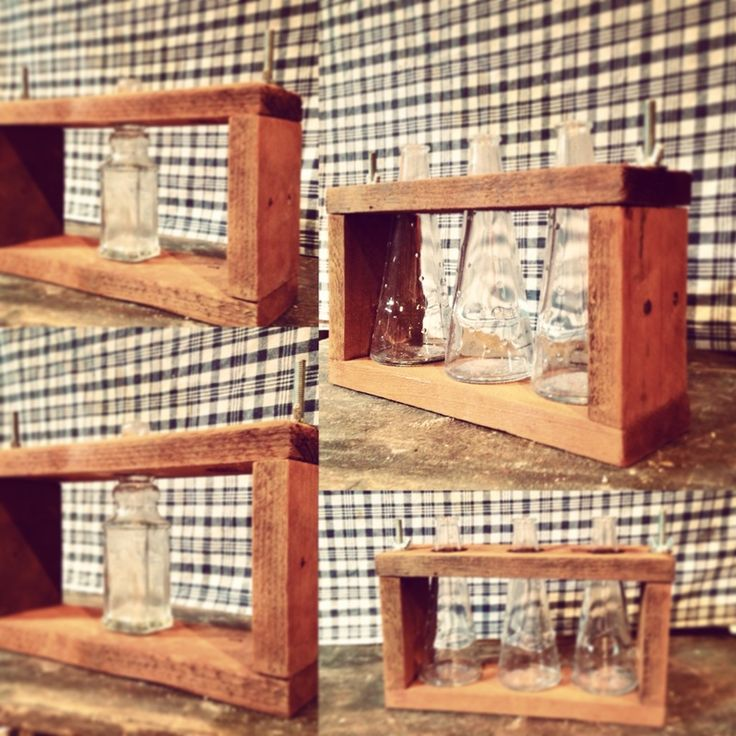 #bottles for #flowers - #recycle #homedecor #riciclo #riciclocreativo #design #wood #handmade #pallets