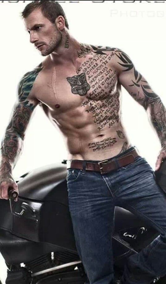 Mens peck tattoo and tattoo sleeves. Once again I love all of these ...