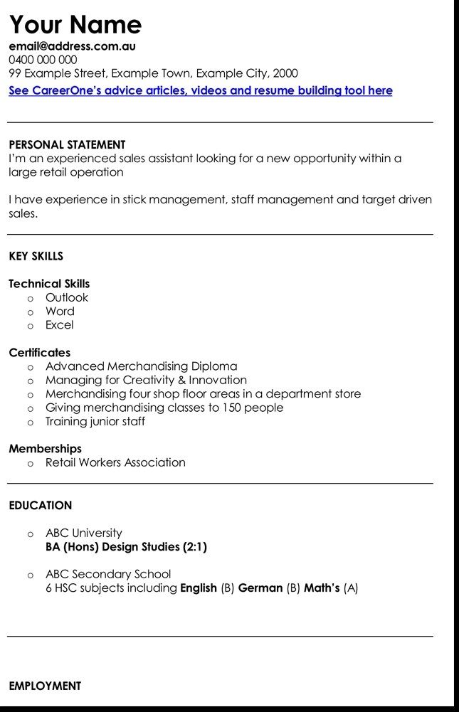 3 Best Retail Manager Resume And Cv Samples Cv Template Cv Design Template Manager Resume
