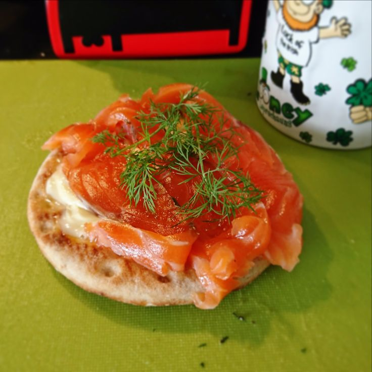 Salmon in Swedish way - Gravad lax. Take 2 bits of fresh salmon (400 gr.), 2 table spoons of groove salt and 2 table spoons of sugar, 1 teaspoon of black pepper and some dill. Mix it. Spread salt-sugar-pepper-dill on the salmon, lay pieces flash to flash and wrap it in the plastic film. Make small holes to release the liquid. Set on the plate to the fridge. Turn several times a day and spool excessive liquid. In three days you Gravad Lax is done! // Denis