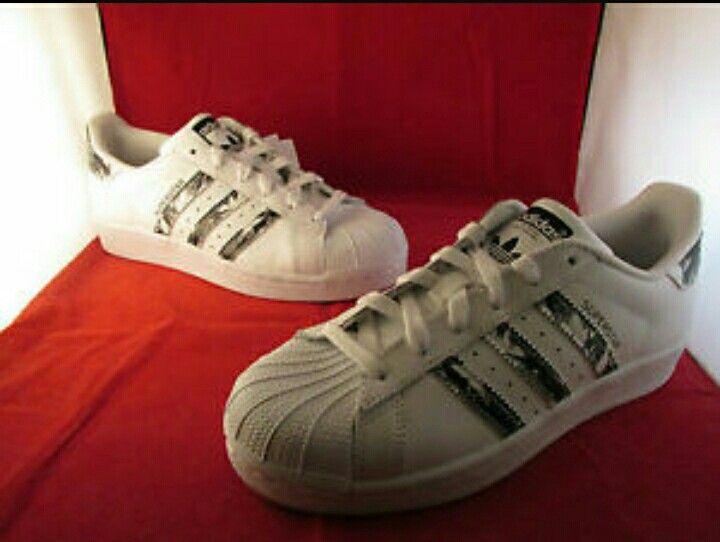Adidas superstar palm white