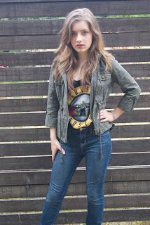 """Hannah's fall look from our """"Fall look book"""" post. Authentically Urban"""